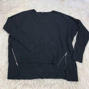 Express Zipper Hem Pullover Sweater